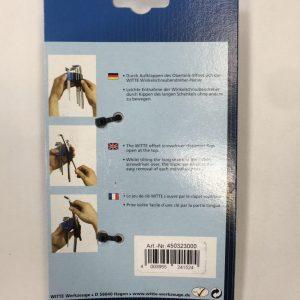ست آلن ستاره ای استاندارد ۸ پارچه WITTE آلمان