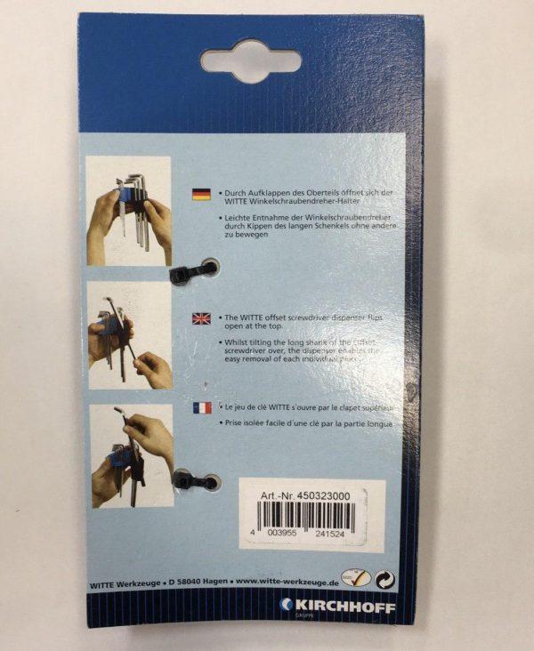 ست آلن ستاره ای استاندارد 8 پارچه WITTE آلمان T9 الی T40